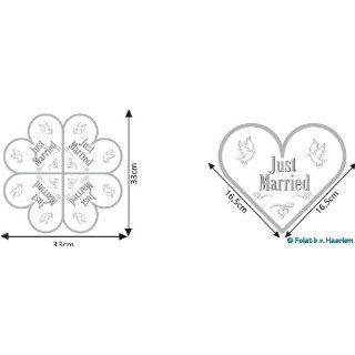 Servietten Just Married Herzform 20 Stück: Küche