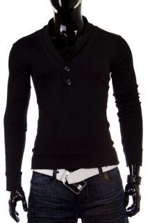 JAPAN STYLE V NECK LONGSLEEVE HOODIE Shirt Sweatshirt Pullover DRN3