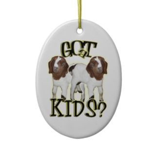 GOT KIDS? CHRISTMAS ORNAMENT   GOAT BABIES BOER