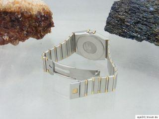 OMEGA CONSTELLATION STAHL / GOLD DATUM ANZEIGE SAPHIR GLAS HERREN UHR