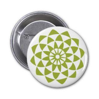 Green Lotus Flower Buttons