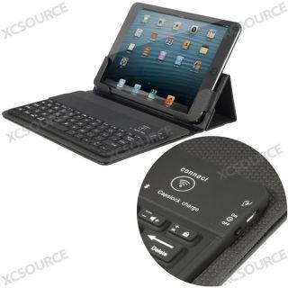 Schwarz Bluetooth Tastatur Leder Tasche Huelle CASE COVER fuer iPad