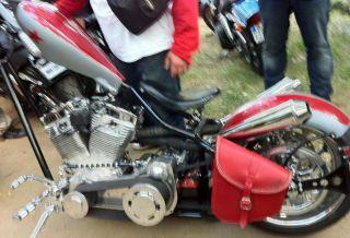 Satteltasche für Harley Davidson softail und starren Rahmen