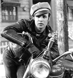 NEU Lederjacke schwarz Brando Rocker Biker Leder Jacke Motorradjacke S