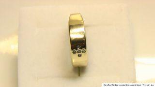 Goldring Ring aus 14K 585er echt Gold mit 5 Brillianten