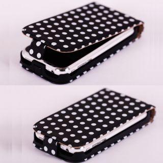 iPhone 3G 3GS Pünkt Leder Tasche Hülle Schutz Leather Flip Case