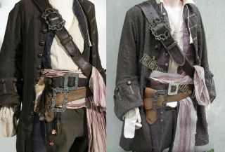 JACK SPARROW baldric belt + buckle costume THE BEST