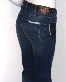 Dunkelblaue Five Pocket Jeans von ARMANI JEANS mit Leinen, Modell