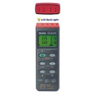 Quad Input Digital Thermometer Data Logger   Tecpel