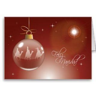 Three Wise Men Christmas Card SPANISH