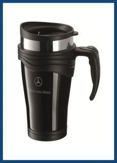Sie erhalten einen original Mercedes Benz  Thermobecher aus Edelstahl