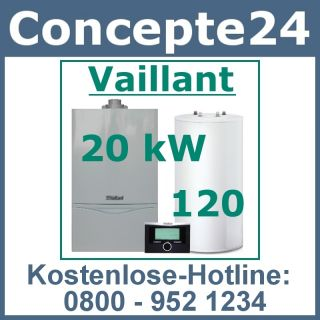 Vaillant turboTEC plus VC 195 20 kW SET Gas Heizung Gastherme