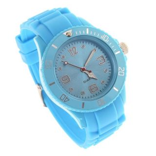 Classic Stylish Silicon Jelly Strap Women Men Unisex Wrist Watch Gifts