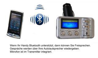Auto Radio FM Transmitter BLUETOOTH USB Freisprecheinrichtung