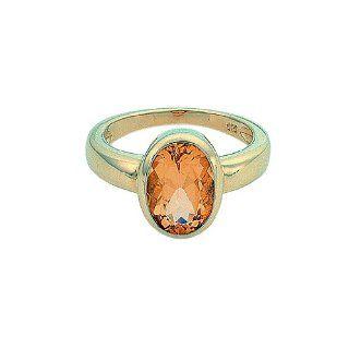 1001 JEWELS Gold Ring mit Citrin aus 585 Gelbgold