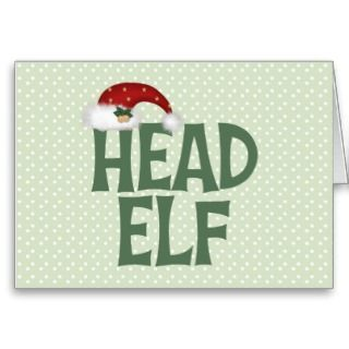 Funny Christmas Elf Christmas Card