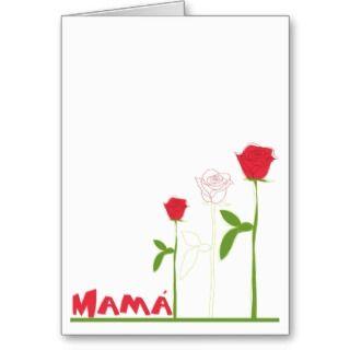 Rosas para Mamá Greeting Cards