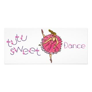 4x9.25 Tutu Sweet Party Invite