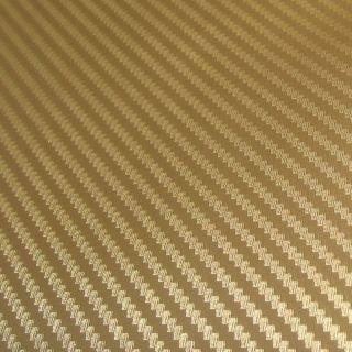 Auto Folie Carbon 3D Gold   2800cm x 152cm   Blasenfrei mit