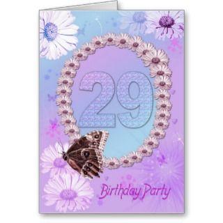 29th Birthday party Invitation Card