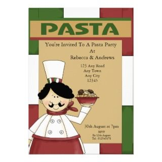 party invitations you re invited to a pasta spaghetti meatballs party