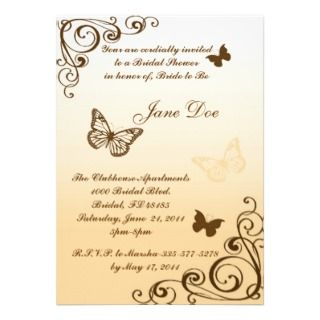 Butterfly Bridal/Birthday Party Invitation