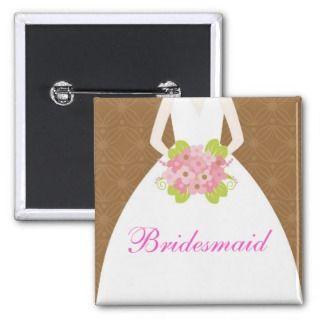 Pink & Brown Wedding Dress Bridal Party