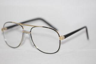 Vintage 80er Jahre Nerd Brille Pilotenbrille AviatorHerren gold 407