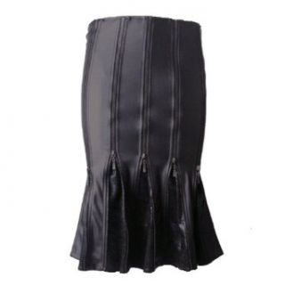 Leder Rock Gothic Punk Rave Bleistift Domina Fetisch Lederrock Leather