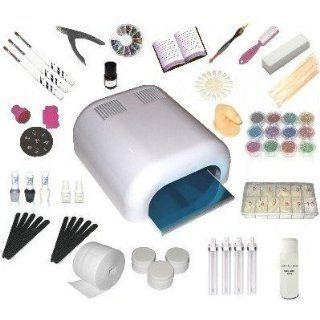 UV Gel XXXL Set, 4 Röhren Gerät, Nails, Nagelstudio WEISS, nagelset