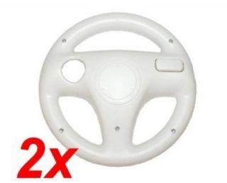 2x Lenkräder Wheels für Nintendo Wii weiß Lenkrad Steering Wheel