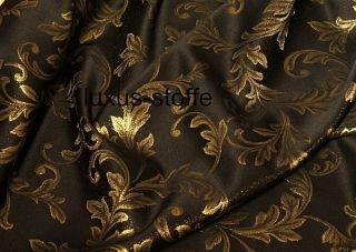 Lurex Jacquardstoff /Brokat schwarz gold*Dekostoff,Gardinenstoff