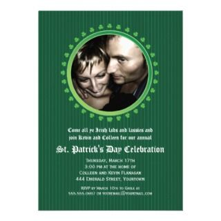 Double Porthole St Patricks Day Party Personalized Invitations