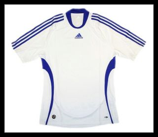 Adidas Regular Trikot Shirt weiß blau ClimaCool Tee L