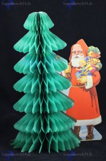 Weihnachtsmann mit Baum zum Aufklappen aus Papier um 1930 *432