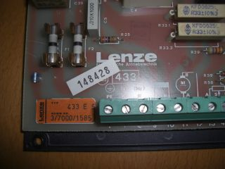 LENZE Motor Control DC Drive PCB Typ 433