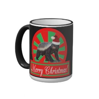 Merry Christmas Honey Badger Coffee Mug