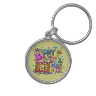 Happy Birthday Cake Key Chain
