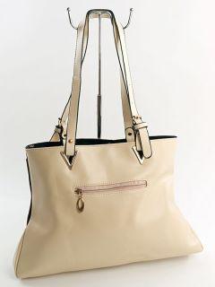 Fashion Style Shopper Damentasche Tragetasche Henkeltasche in Beige