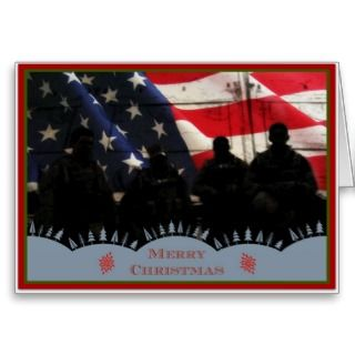& Troops Christmas Military Greeting Greeting Cards