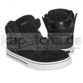 Urban Classics High Top Basketball Shoes Black White TB303