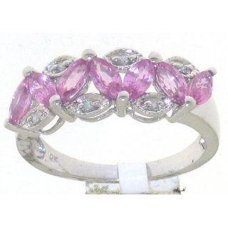 Atemberaubender 9 Karat (375) Weißgold Fancy Diamant Ring Brillant