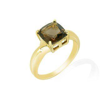 Damen Ring 9 Karat (375) Gelbgold Rauchquarz Gr. 53 (16.9) 135R0370 01