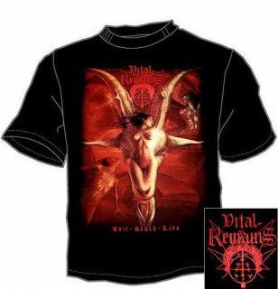 VITAL REMAINS Goat Death Metal Mens T Shirt Size M