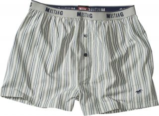 MUSTANG Pyjamahose Schlafanzughose Gr. M L XL XXL Web Boxer Eingriff
