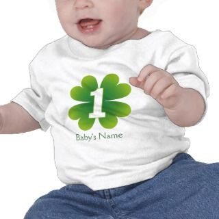 St. Patricks Day 1st Birthday Tee Shirts
