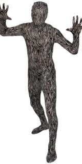 Zebra SKINZ Lycra Spandex Body Hautenger Ganzkörper Anzug Größe L