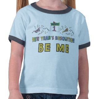 Kids, Toddler, Baby New Years Resolution T Shirts