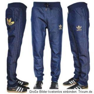 ADIDAS HC CUFFED PANT CHILE Denim Jeans + Training Gr. M Trefoil