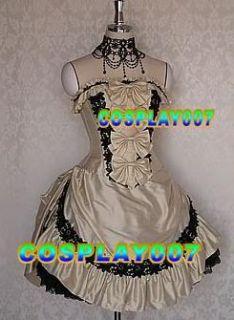 classical handmade prom lolita dress~trendy emo~cosplay pretty